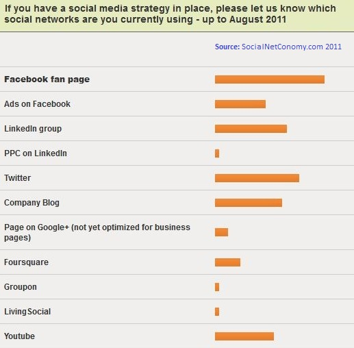 which social networks are you currently using - up to August 2011
